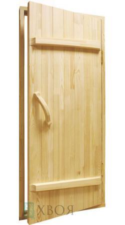 Дверь банная из массива сосны